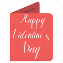 card, day, february 14, happy, valentine's icon