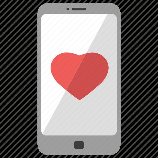 day, february 14, happy, heart, hearts, phone, valentine's icon