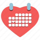 calendar, day, february 14, happy, heart, valentine's icon