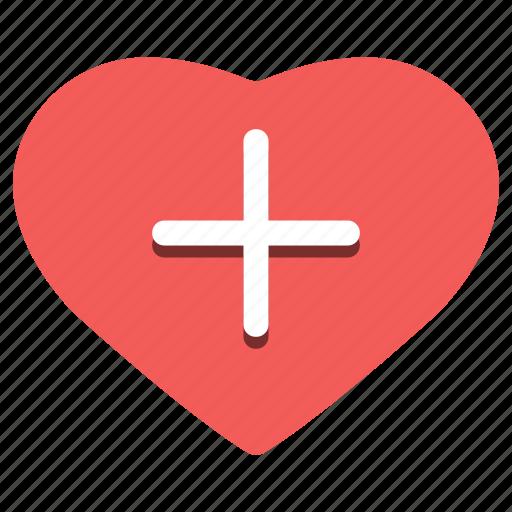 day, february 14, happy, heart, plus, valentine's icon
