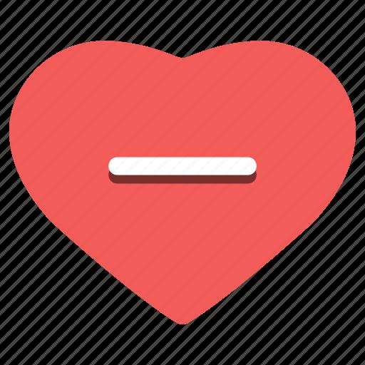 day, february 14, happy, heart, minus, valentine's icon