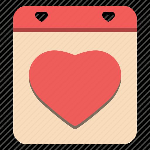 calendar, day, february 14, happy, heart, valentine's icon