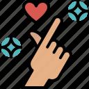 mini, heart, hand, sign, love, valentines, passion