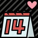 calendar, event, date, love, valentines, passion