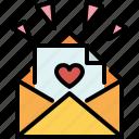 love, letter, romantic, message, valentines, passion, mail