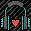 love, song, valentines, passion, romantic, music, headphone