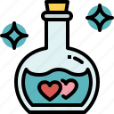 love, potion, romance, bottle, valentines, passion, heart