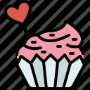 love, cake, valentines, passion, sweet, cupcake