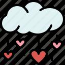 heart, rain, weather, cloud, love, valentines, passion icon