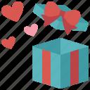 gift, present, surprise, box, love, valentines, heart