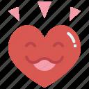 happy, heart, emoji, love, valentines, passion, smile