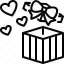 gift, present, box, love, valentines, romantic, heart