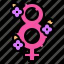 eight, day, number, feminism, feminine, flower