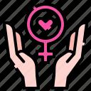hands, feminism, feminine, safe, protected, venus
