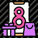 online, shopping, bag, smart, phone