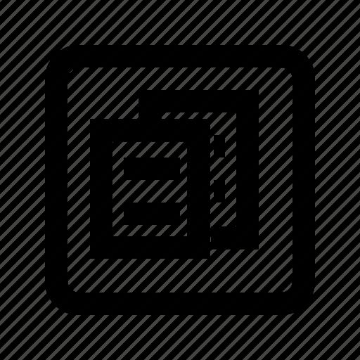 copy, duplicate, file, paste icon