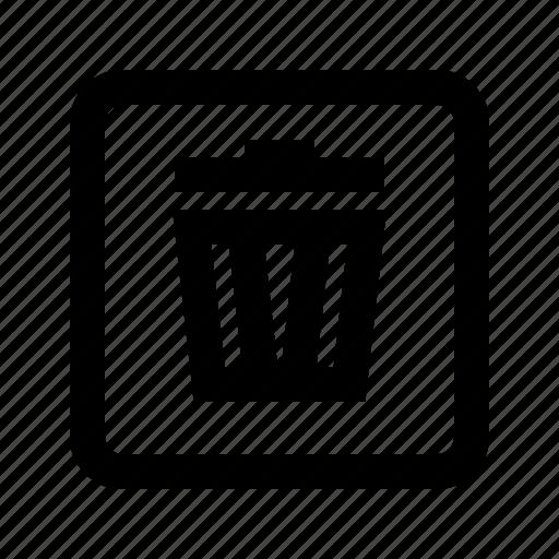 bin, delete, recycle, temp icon