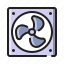 computer, cooler, device, fan, hardware, laptop, technology icon