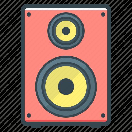 acoustic system, acoustics, audio, electronics, hardware, sound icon