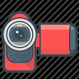 camcorder, camera, devices, film, video, video camera icon