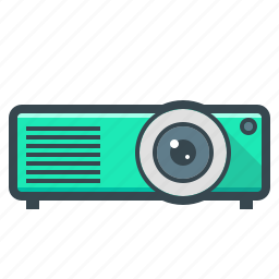 device, film, hardware, projector icon