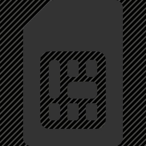 call, communication, sim card icon
