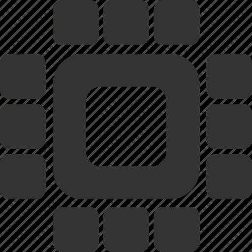 chip, hardware, processor, technology icon