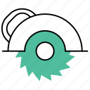 cogwheel, construction tool, cutter, electric cutter, hardware, repair, tools icon