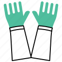 equipment, hand gauntlet, hand protection, hardware, safety gloves, tools icon