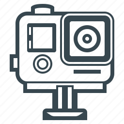 cam, camera, device, digital, gopro, movie, video icon