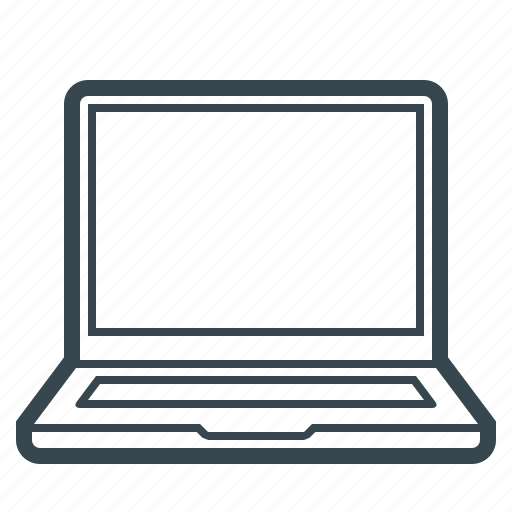 computer, device, laptop, notebook, pc icon
