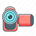 camcorder, camera, hardware, movie, video icon