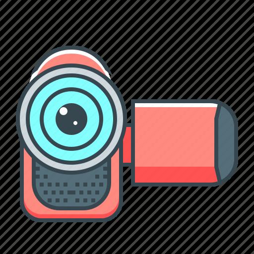 camcorder, camera, hardware, movie, video icon