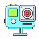 camera, device, extreme camera, gopro, video icon