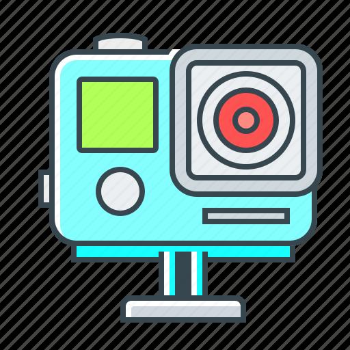 camera, device, extreme camera, gopro, video icon