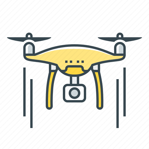 air drone, devices, drone, drone robot icon