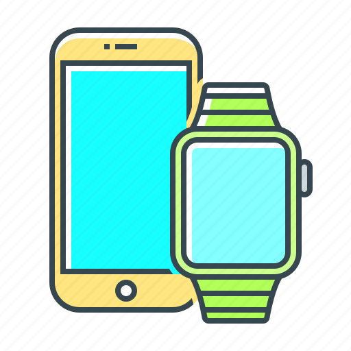 devices, gadgets, iphone, iwatch, smartphone icon