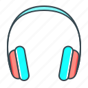 hardware, headphone, headset, listen, music, sound icon
