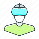 devices, glasses, reality, virtual, virtual reality, vr, vr glasses icon