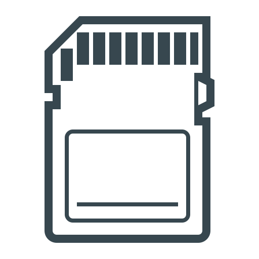 card, chip, memory, memory card, ssd memory card icon