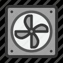 computer, cooler, electric, fan, hardware, heatsink, motherboard icon