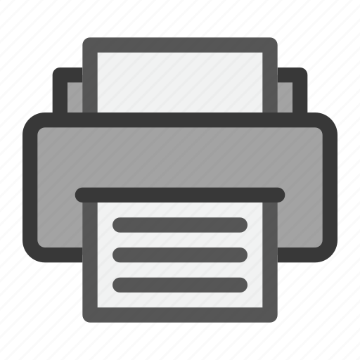 computer, electric, fax, hardware, inkjet, print, printer icon