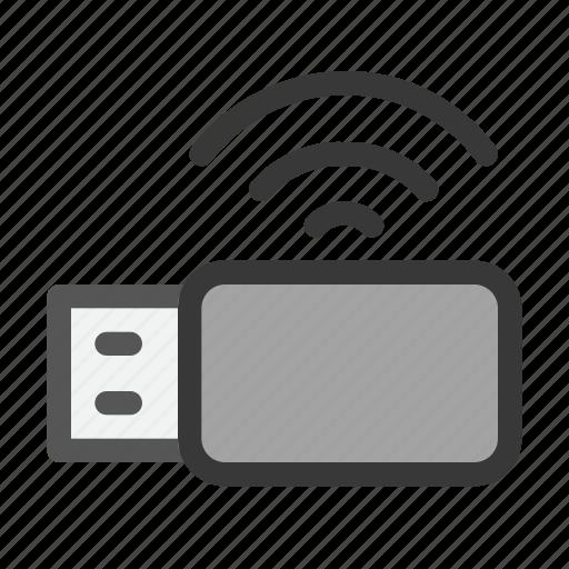 computer, electric, hardware, modem, usb, wifi, wireless icon