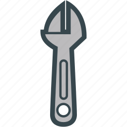 adjustable, hardware, tool, wrench icon