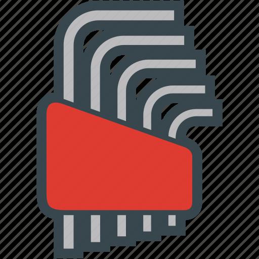 allen, hex, key, set, tools icon