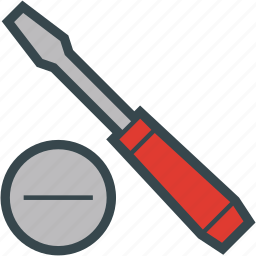 blade, screwdriver, slotted, tool icon