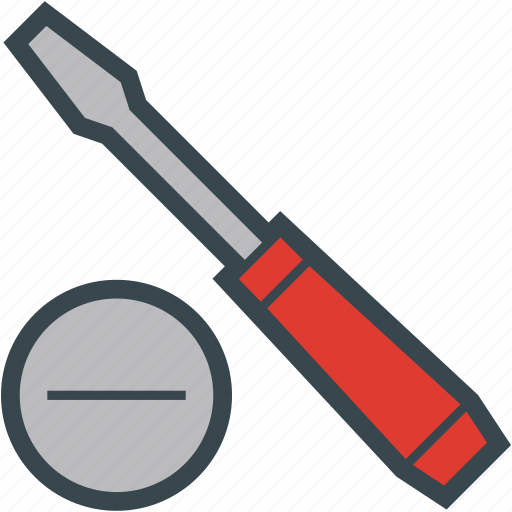 Blade, screwdriver, slotted, tool icon - Download on Iconfinder