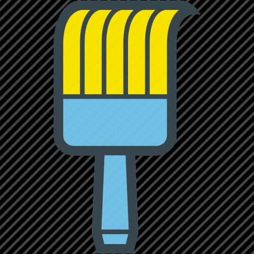 brush, flat brush, paint, paintwork icon