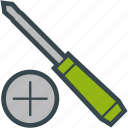 cross, head, screwdriver, tool icon