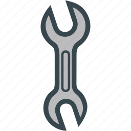 double, nut, screw, tool, wrench icon